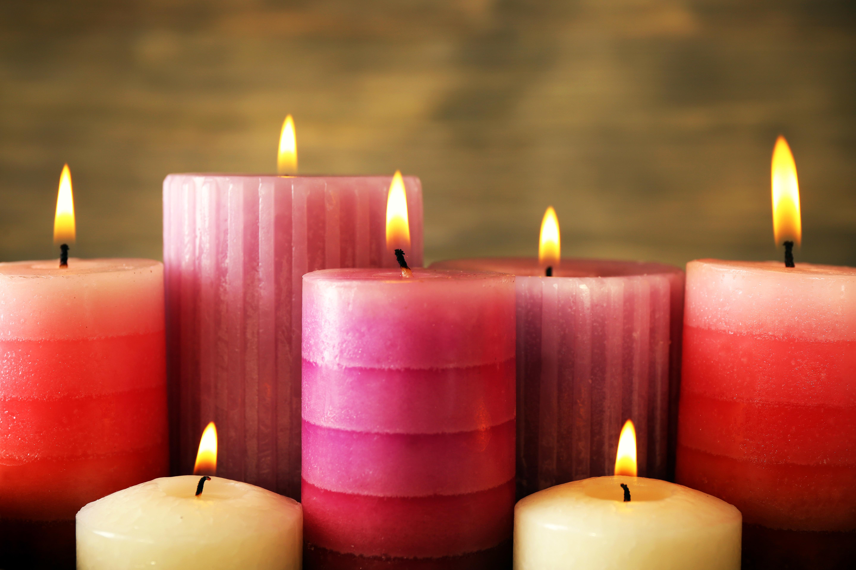 świece w stylu decoupage