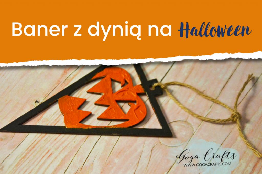 Baner z dynią na Halloween
