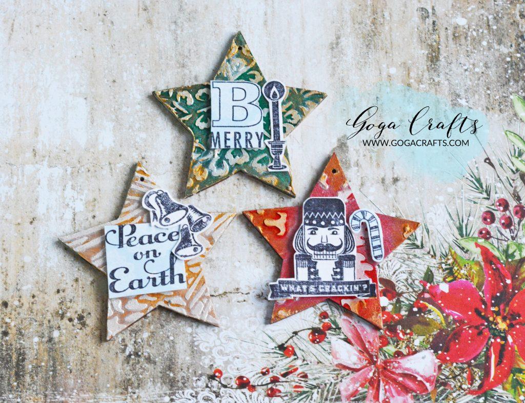 Gwiazdki świąteczne na choinkę